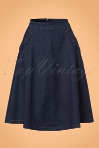 King Louie Delphi Skirt in Denim 122 30 21198 20170710 0002W