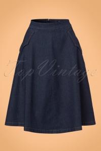 King Louie Delphi Skirt in Denim 122 30 21198 20170710 0002W
