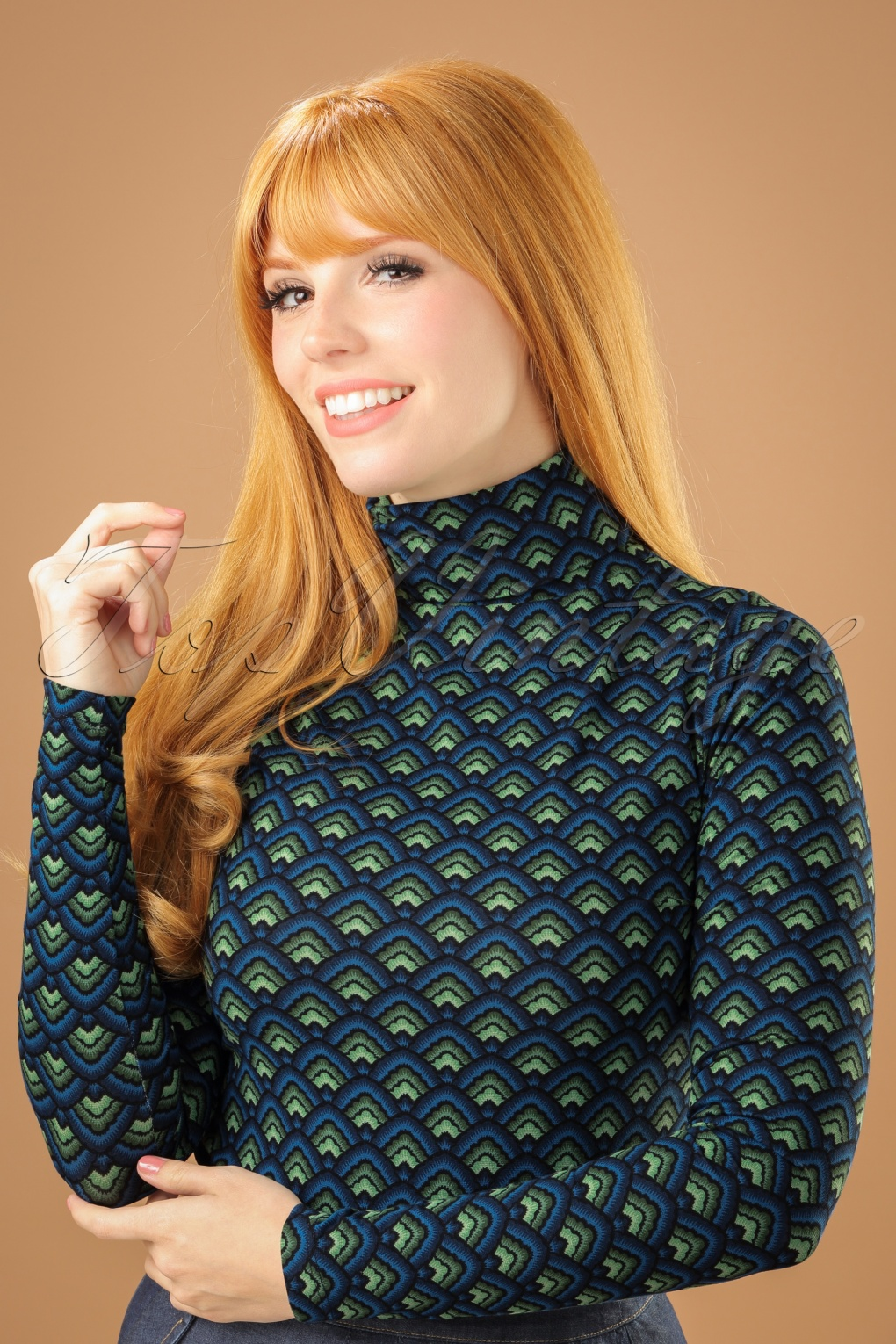 Vintage Sweaters: 1940s, 1950s, 1960s Pictures 60s Betsy Fuji Rollneck Top in Dark Navy £50.00 AT vintagedancer.com