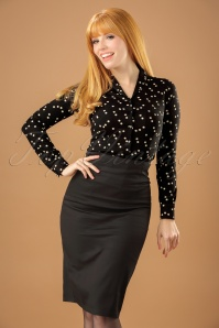 Dolly and Dotty 50s Falda Pencil Skirt in Black