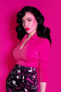 TopVintage Exclusive ~ 50s Vixen Top in Hot Pink