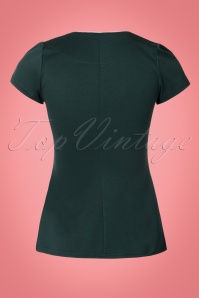 Steady Clothing Hunter Green Piped Sophia Top 111 40 22325 20170807 0008W