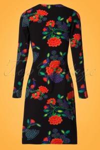 Lien & Giel Buenos Aires Peacock Floral Dress 100 14 21660 20170807 0008W