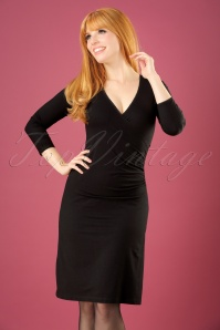 Christine 3/4 Sleeves Cross Dress Années 50 en Noir