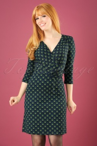 60s Cecil Fuji Dress in Dark Navy
