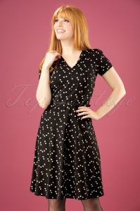 60s Lou Star Dress in Black