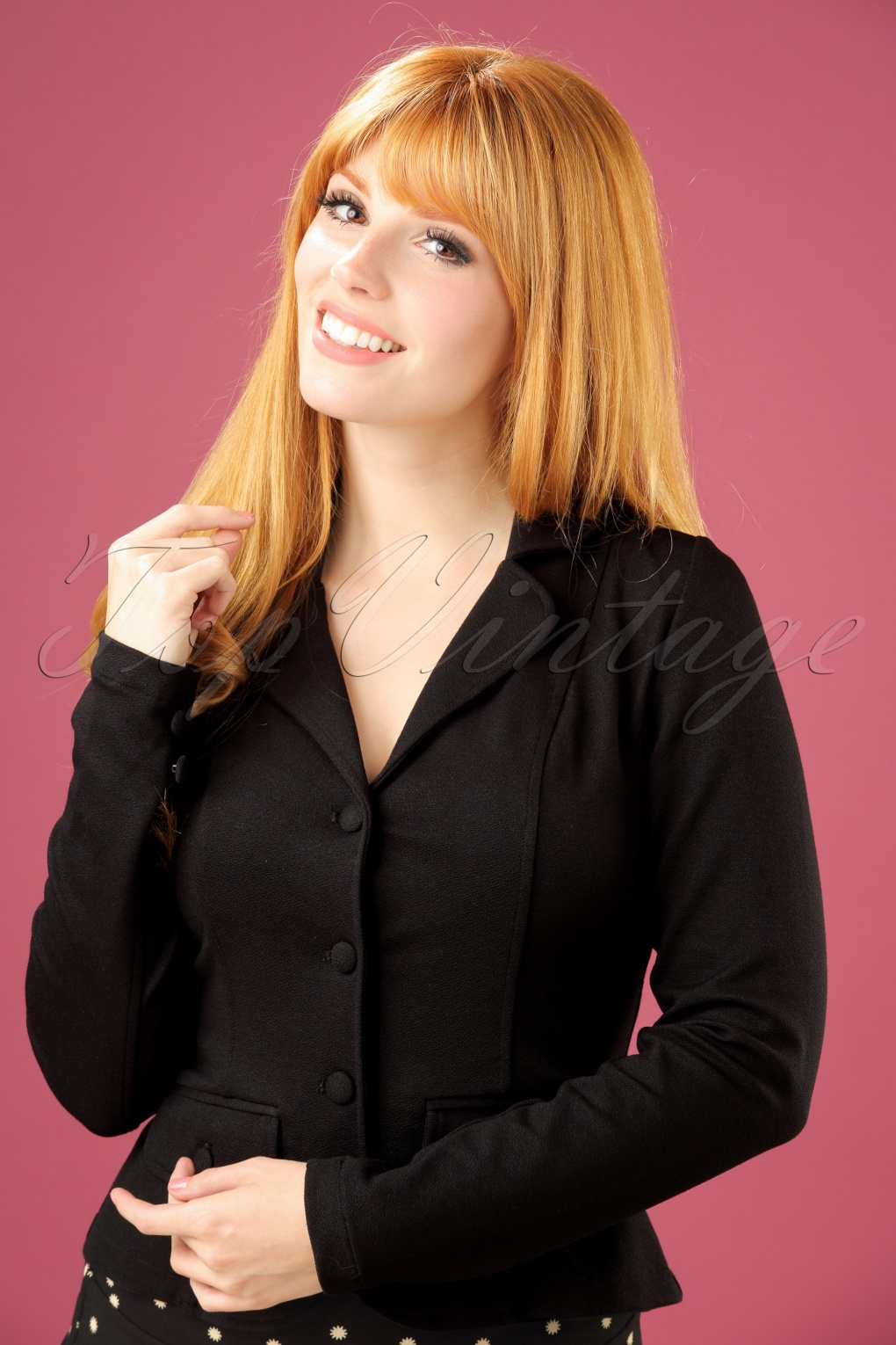 New 1940s Style Coats and Jackets for Sale 40s Milano Crepe Blazer Jacket in Black £104.23 AT vintagedancer.com