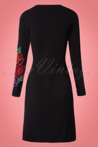 Lien & Giel Black Embroidery Floral Dress 100 10 21663 20170807 0008W