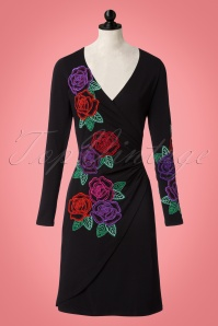 Lien & Giel Black Embroidery Floral Dress 100 10 21663 20170807 0002pop