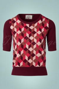 Dancing Days by Banned Retro Cube Top in Bordeaux Red 113 27 22298 20170808 0002W