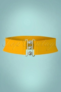 50s Lauren Retro Stretch Belt in Mustard