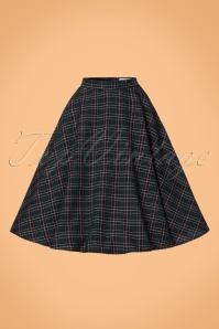 Bunny Peebles 50s Check Green Swing Skirt 122 49 22613 20170809 0008W