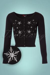 Bunny Snowstar Black Snowflake Cardigan 140 10 22626 20170809 0001W1