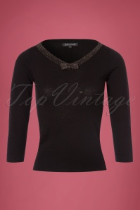 King Louie Bow Top Knit Lapis Black 21293 07262017 004W