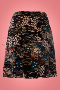 King Louie Floral Borderskirt in Black 123 14 21367 20170810 0004W