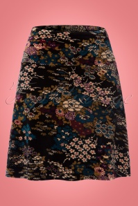 King Louie Floral Borderskirt in Black 123 14 21367 20170810 0001W