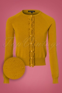 King Louie Roundneck Ruffle Droplet Cardigan in Yellow 21212 20170726 0002wv