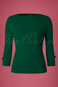 Banned Addicted Boatneck Bow Top in Green 113 40 22284 20151202 0002w
