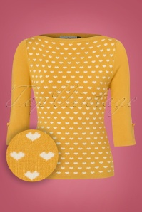 Dancing Days by Banned Addicted Sweater in Mustard with Hearts 113 89 22295 20170717 0002wv