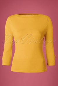 Banned Addicted Boatneck Bow Top in Mustard 113 80 22297 20151202 0003w