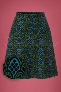 King Louie Border Skirt in Green and Blue 123 14 21305 20170710 0002W1