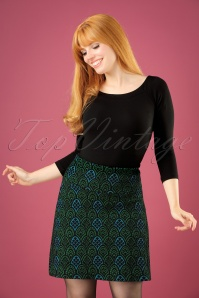 60s Nona Borderskirt in Black