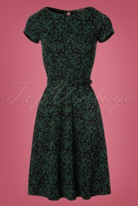 King Louie Betty Dress in Black and Green 102 14 21364 20170811 0003W
