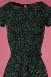 King Louie Betty Dress in Black and Green 102 14 21364 20170811 0003V