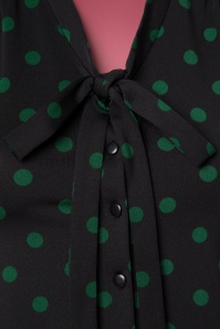 King Louie Bow Black Polkadot Blouse 112 14 21361 20170811 0004W