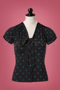 King Louie Bow Black Polkadot Blouse 112 14 21361 20170811 0001pop