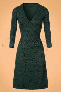 60s Maple 3/4 Sleeves Cross Dress in Sycamore Green