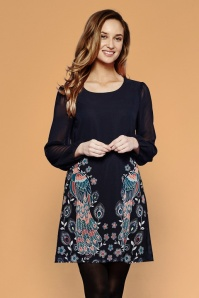 Yumi Peacock Navy Dress 106 39 21925 20170811 001