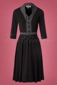 40s Timea Lou Suit Swing Dress in Black