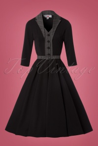 Miss Candyfloss Black Swing Dress 102 10 22144 20170816 0003W