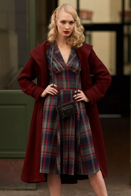 1950s Dresses Circle Skirt Coat Dress Shirtwaist Dress