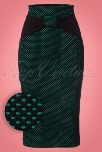 Vintage Chic Polkadot Bow Pencil Skirt 120 14 22135 20170815 0003W1