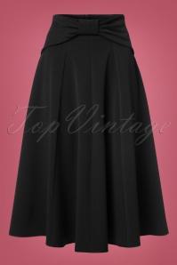 40s Victoria Swing Skirt in Black