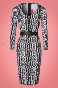 Vixen by Micheline Pitt Frisky Fetish Collection Zebra Print Dress 100 59 21938 20170817 0003W