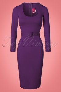 Vixen by Micheline Pitt The Purple Vixen Wiggle Dress 100 20 22415 20161219 0002W