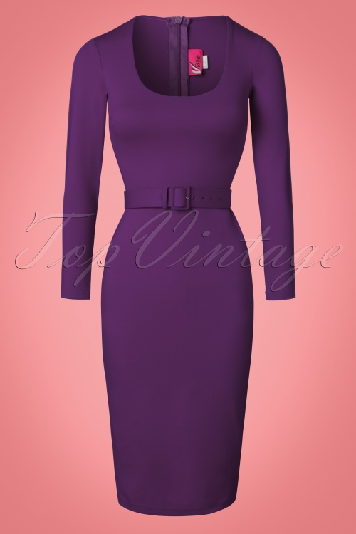 Topvintage exclusive troublemaker wiggle dress in plum jpg 500x750  Troublemaker wiggle b13e53f83