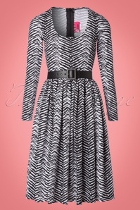 Vixen by Micheline Pitt Frisky Fetish Collection Zebra Print Dress 102 59 21942 20170817 0001W