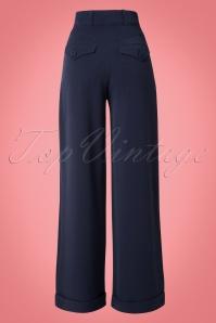 Miss Candyfloss 40s Nicolette Blue Pants 131 31 14857 20150226 0003W