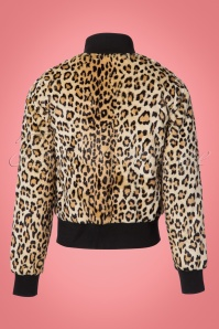 King Louie Rib Collar Leopard Bomber Jacket 153 58 21349 20170810 0003W