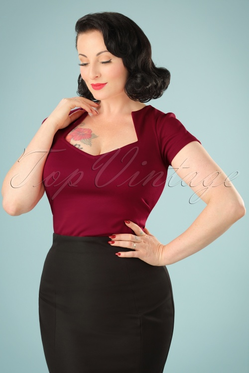 Rock Steady Clothing Sophia Top Red 22324 3W