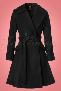50s Olga Coat in Black
