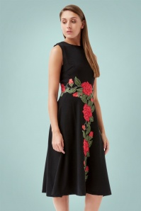 Traffic People Geisha Tale Black Rose Dress 102 10 21569 20170818 01