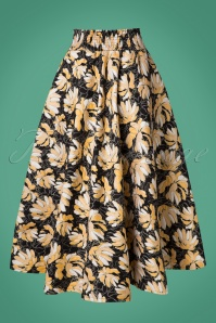 Traffic People Black Gold Floral Skirt 122 14 21572 20170818 0007W