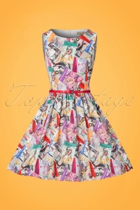 Lindy Bop Audrina Read All About It Swing Dress 102 57 22886 20170821 0019w