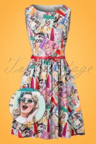 Lindy Bop Audrina Read All About It Swing Dress 102 57 22886 20170821 0014wv