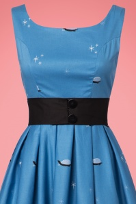 Lindy Bop Blak Cat Dress in Blue 102 39 22885 20170821 0006V